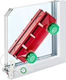 Tyroler Bright Tools Magnetic Window Cleaner The Glider D-4 Single, Double, or Tripled Glazed 0.08'-1.6' | Adjustable Magnet Force Control | Indoor and Outdoor Glass Pane Cleaning.