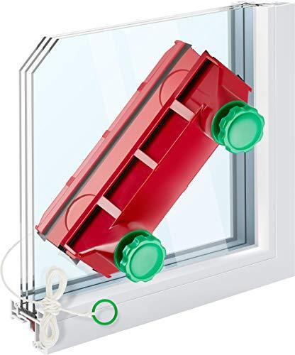 Tyroler Bright Tools Spazzola Lavavetri Magnetica Glider D-4 Tergivetri per Vetri Interni e Esterni |Per Finestre a Vetro Singolo, Vetro Doppio o Triplo da 2-40 mm | Aderenza Regolabile