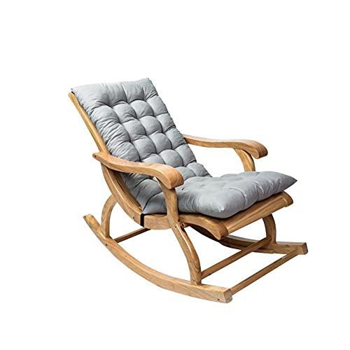 MIAOLEIE Cojín cómodo para silla mecedora de 119 x 50,8 cm. Cojín suave para tumbona, respaldo alto, antideformado y antideslizante
