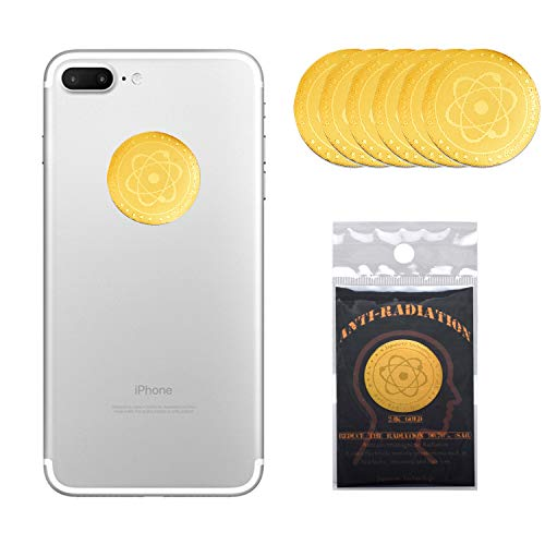 6 Pack - Anti EMF Radiation Protection Shield Sticker, Radiation Neutralizer Shield Blocker, EMF Radiation Protection Device for Cell Phone, Laptop and All Electronic Devices-EMF Protection Products