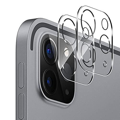 Aerku Kamera Panzerglas Schutzfolie für iPad Pro 12,9/11 Zoll (2020/2021), [Vollständige Abdeckung] Kamera Schutz Displayfolie9H Härte HD Transparenz Anti-Kratzen Protector - 2 Stück