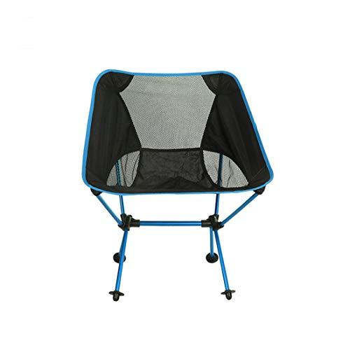 MOKA OUTDOOR Tragbarer Camping Klappstuhl, ultraleichter Rucksack mit Tragetasche, geeignet für Outdoor, Camping, Angeln, Strand, Reisen,Blue
