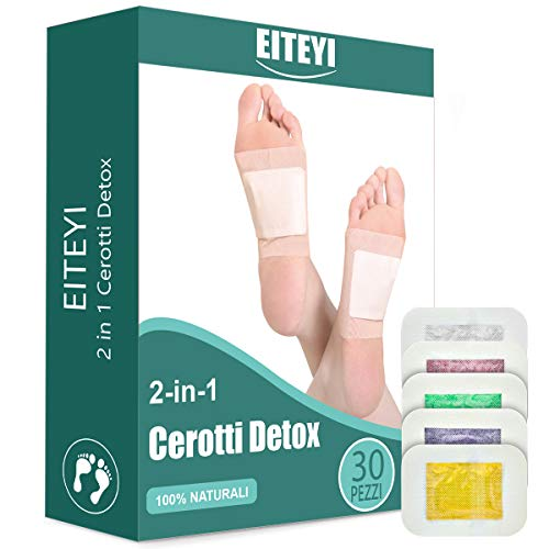 ITCMEE Detox Foot Pads Detox Foot Patches, Ginger Detoxifying Foot Pads Foot Care Improve Sleep Quality Enhance Blood Circulation 30 Pieces (Foot Patches)