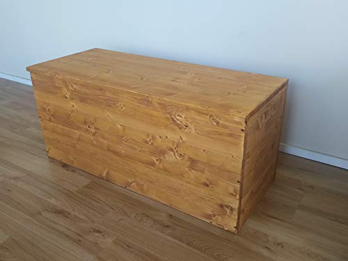 TOTAL WOOD 2012 Truhenbank banktruhe sitzbank sitztruhe truhen aus Holz B x T x H ca.: 150cm x 40cm x 45cm.