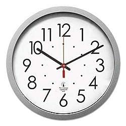 Chicago Lighthouse Quartz Flat Rim Clock, 13-1/4in, Silver (ILC67818003)