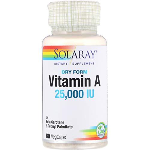 Solaray Vitamin a 25000Ui   60 Vegcaps