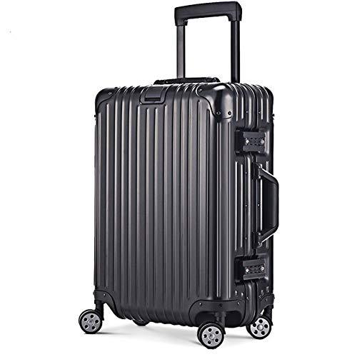 """AHJSN Alle Aluminium Gepäck Hardside Roll Trolley Gepäck Reise Koffer Tragen auf Gepäck 22 26 30 Überprüft Gepäck 28\"""" Black"""