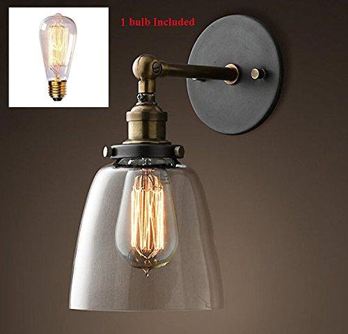 5151BuyWorld Vintage industriële koper retro wandlamp glas grote klok kwaliteit loft hanger ligh licht met lamp