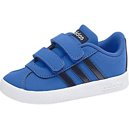 adidas VL Court 2.0 Cmf, Scarpe da Tennis Unisex-Bambini, Blu (Blue/Legink/Ftwwht Blue/Legink/Ftwwht), 23 EU