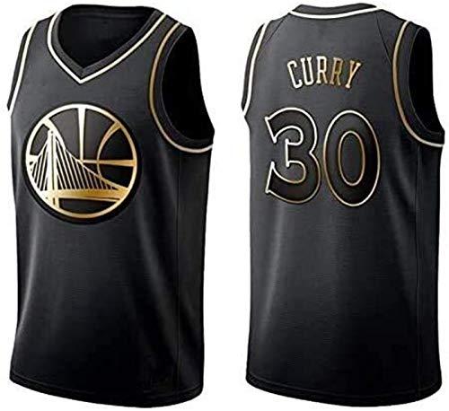 MMQQL NBA Jerseys, Golden State Warriors Curry # 30 Camisetas De Baloncesto, Tela Fresca Tela Unisex Camisa De Entrenamiento Ventilador Sin Mangas,A,XL