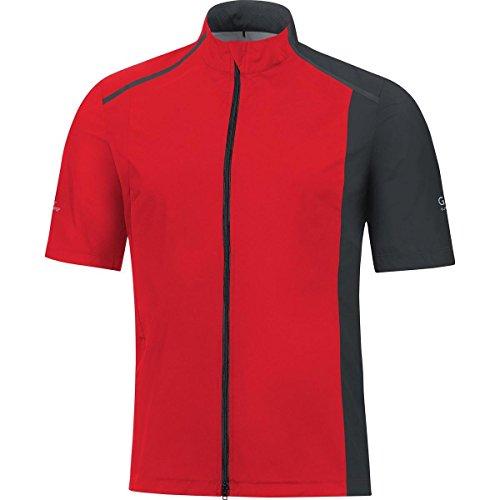 GORE RUNNING WEAR Camiseta para Hombre Ultra ligera y compacta, GORE WINDSTOPPER, FUSION GWS, Talla S, Rojo/Negro, SWAFUS359903