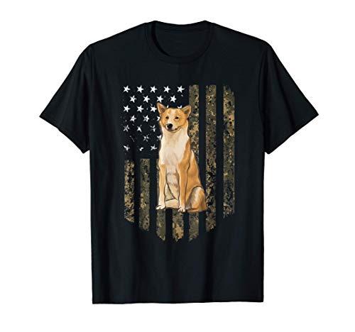 Bandiera Americana Camuflaje Perro De Canaán Camiseta