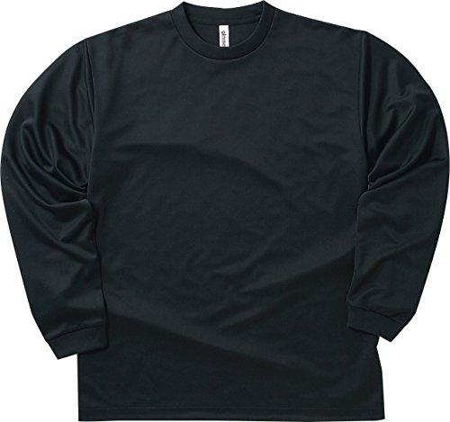[グリマー] 長袖 4.4オンス ドライ ロングスリーブ Tシャツ [クルーネック] 00304-ALT ボーイズ ブラック L (日本サイズL相当)