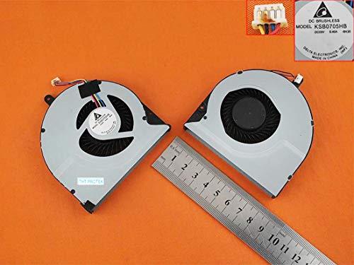 Kompatibel für ASUS N56, N56VZ, N56VW, N56VB, N56V Lüfter Kühler Fan Cooler