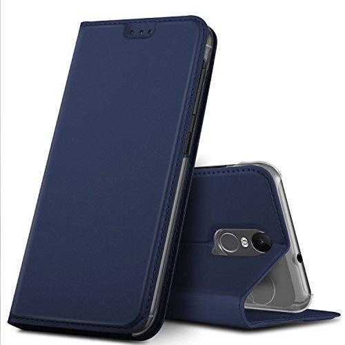 GeeMai Gigaset GS180 Hülle, Premium Gigaset GS180 Leder Hülle Flip Hülle Tasche Cover Hüllen mit Magnetverschluss [Standfunktion] Schutzhülle handyhüllen für Gigaset GS180 Smartphone, Blau
