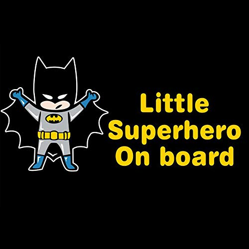 Meitinalife Little Superhero Baby on Board Stickers Reflective Kids ON Board Car Stickers and Decals Baby in Car Styling Windshield Window Vinyl Stickers for Car Body Door Decoration 3.93'x7.8' (6)