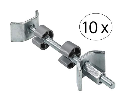 Hettich 9220216 Plattenverbinder (Möbelverbinder) für stabile Verbindungen-100mm, 35/20 mm-10 Stück, Grau