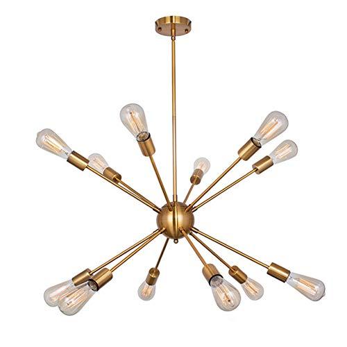 12 Leuchten Moderne Sputnik Kronleuchter Pendelleuchte Gebürstetes Messing Mid Century Kronleuchter Hängende Unterputzleuchten Mit Verstellbaren Armen