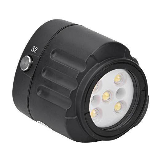 PUSOKEI Luz de Buceo, luz de Relleno de luz de Video LED de 40 m / 130 pies 7500K, luz de luz de Video LED a Prueba de Agua, luz de Noche, luz de Buceo, luz subacuática