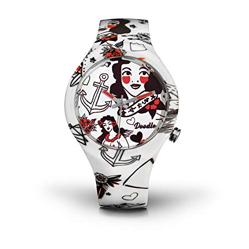 DOODLE Watch ? Armbanduhr für SIE Ø 39mm | Silikonband > Rockabilly > DOTA003