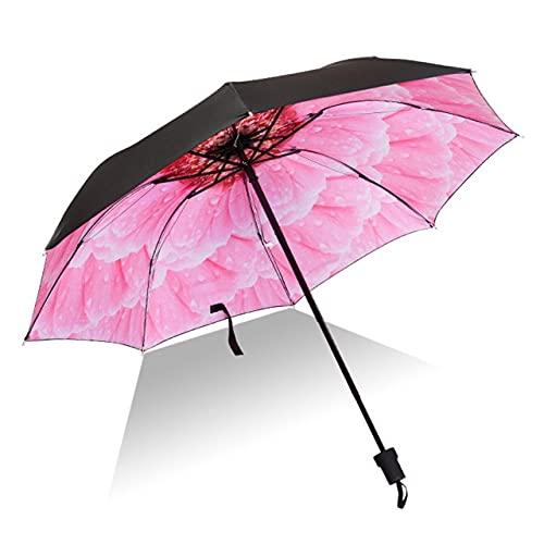 Paraguas plegable para hombres y mujeres, protección UV, cortavientos, compacto para viajes al aire libre, Gq999