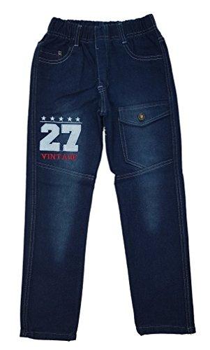 Unbekannt Bequeme Jungen Jeans mit rundum Gummizug in Blau, Gr. 104, J120.4