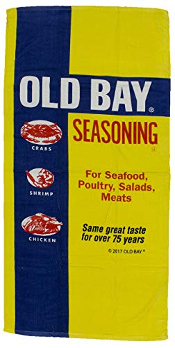Maryland My Maryland Old Bay Seafood Seasoning Faded Logo Beach Towel