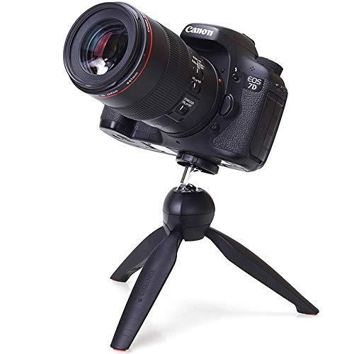 Mini Stativ Flexible Kamera-Handyhalter, Grip Stabilizer Table Top Stativ für Digitalkamera, DSLR, Camcorder - Schwarz