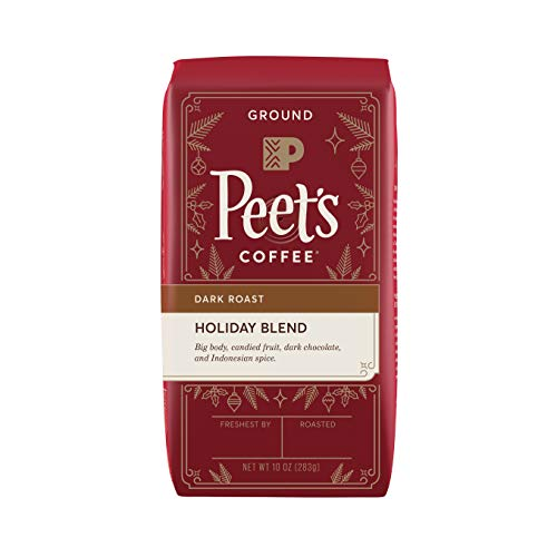 Peet's Coffee Holiday Blend Coffee Bag, Ground, 10 Ounce