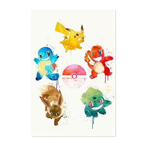 Noir Gallery Pokemon Elements Painting 5' x 7' Unframed Art Print/Poster