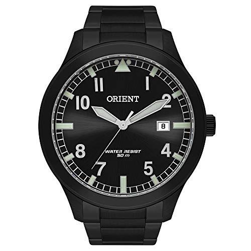 Relogio Orient Mpss1020 P2px Masculino Aco Mostrador Preto Ponteiros Verde C Calendario