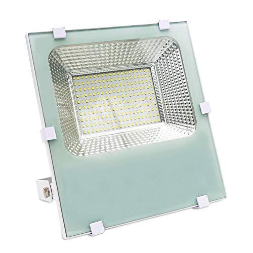 LineteckLED Faro LED bianco 100W professionale per esterno potente SMD LED IP66 a luce bianca fredda 6000K professionale