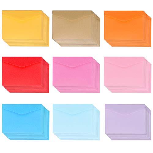 Mini Umschlag 100 Stück Mehrfarbig Niedlich Umschläge für Weihnachten Hochzeit Geburtstag Party Geschenk Angebot 11 * 8CM