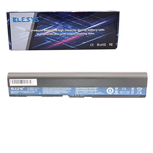BLESYS 11.1V 4400mAh AL12X32 AL12B32 Battery for Acer One 756 725 TravelMate B113 B113M Series Laptop AL12B31 AL12B72 4ICR17/65