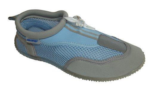 Aqua-Speed Wasserschuhe/Surfschuhe/Badeschuhe Aquashoe 3-655 (blau/grau, 37)