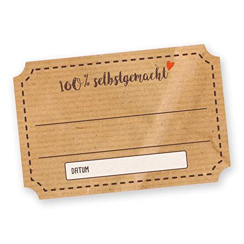 itenga Sticker Aufkleber 50 x Marmeladenetikett