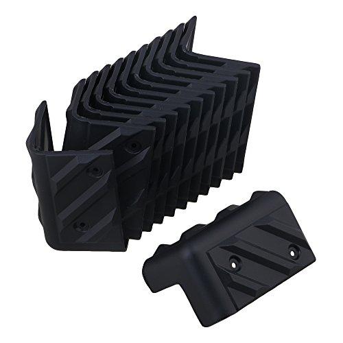 BQLZR 48x48x80mm Schwarz Kunststoff Kabinett Gitarrenverst?rker B¨¹hnenlautsprecher Eckenschutz Packung mit 12
