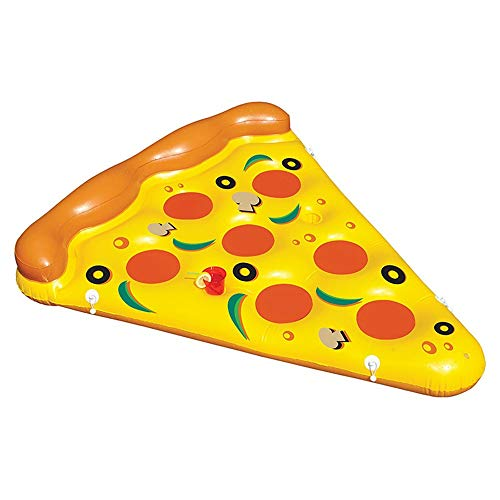 New Inflatable Float Float Ride Giant Inflatable Pizza Slice Pool Float Fun Pool Swim Party Toy (1 P...