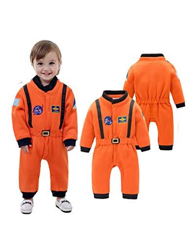 GBYAY Disfraz de Astronauta Traje Espacial Mamelucos para bebés Niños Niño Infantil Halloween Navidad Fiesta de cumpleaños Cosplay