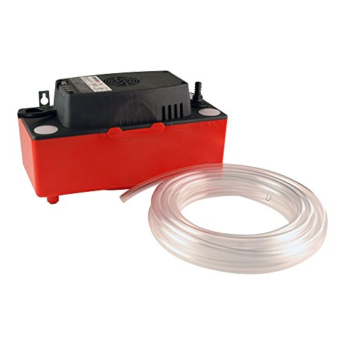Diversitech - GID-SX-0463110 CP-22T Condensate Pump, 120 V, 4 Inlet Holes, 22' of Lift, RED/Black, 12-1/4X7-3/4X9 in