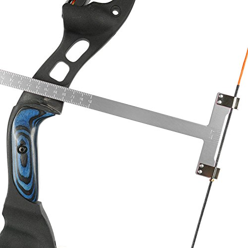 Chuangtong Bow Square Archery T Ruler 12 inches Measurement Compound Recurve Bow (CT013-Silver)