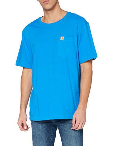 Carhartt Southern Pocket T-Shirt, Bolt Blue, L Uomo