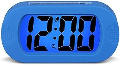 Buena acción despertador De silicona a prueba de golpes creativo lindo reloj electrónico Quiet Night Lazy