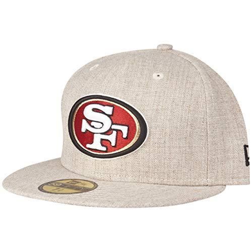 New Era 59Fifty - Gorra, diseño de avena de San Francisco 49ers, Unisex adulto Infantil, beige, 7 3/8