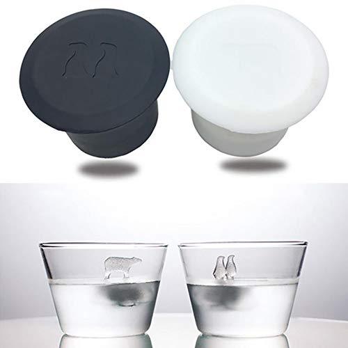 Animal Ice Cube 3D Moule silicone Congélateur Polar Bear Mold Penguin Cup Eco Friendly Ice Cube Maker Party Bar Supply
