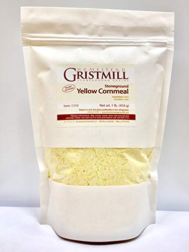 Homestead Gristmill — Organic, Non-GMO, Stone-ground Yellow Cornmeal (2 Pack)