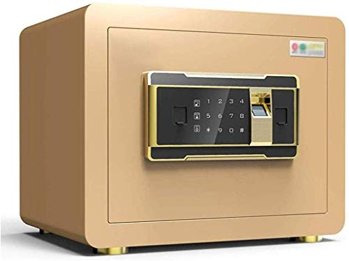 ADSE Security Safe Small Electronic Key Box Office Home Anti-Theft - 35X25X25cm- (Gold)