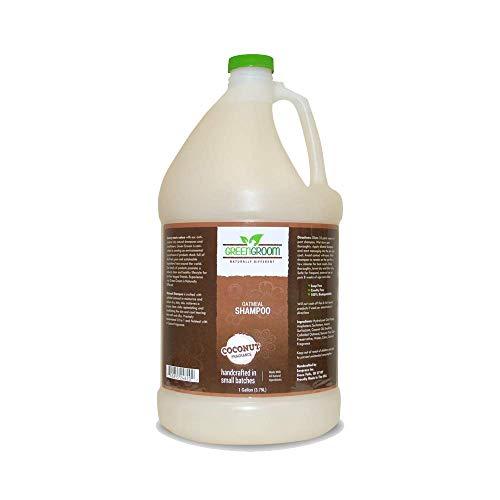 GreenGroom Champú De Avena para Perros, 1 Galón - Elaborado con Avena Coloidal, Todos Los Ingredientes Naturales, Alivia La Piel Seca Y con Picazón, Repone