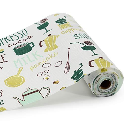 ZIHOO Forro de cajones no adhesivo de 30 cm x 500 cm, revestimiento de gabinete de cocina, revestimiento de cajones de dormitorio, forro de cajones para armarios frigoríficos (A,1)