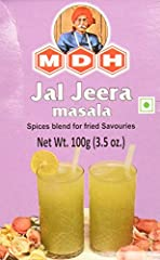 MDH Jal Jeera Masala is a spice blend for fried savories.
